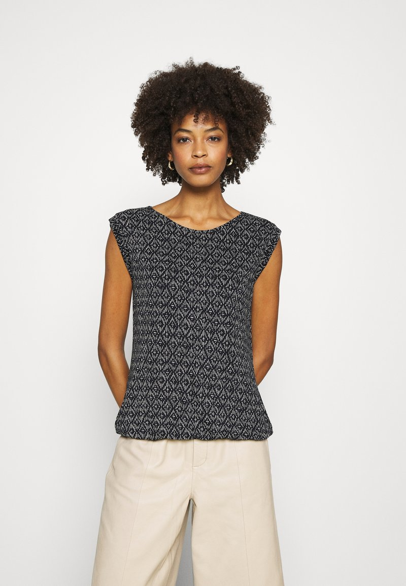Opus - Print T-shirt - simply blue