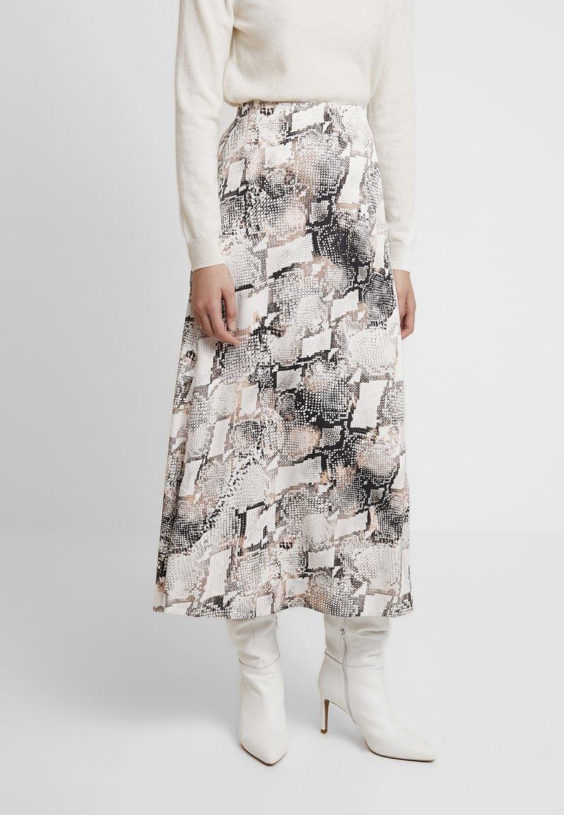 Gestuz - BARAN SKIRT - A-line skirt - light grey/black