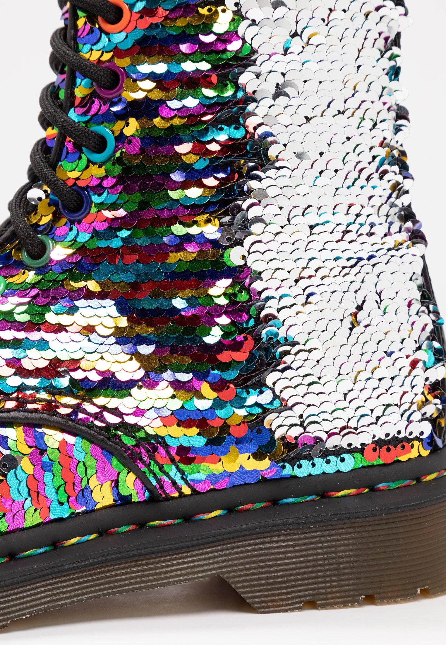 1460 PASCAL SEQN 8 EYE BOOT Botki sznurowane multicolorsilverblack