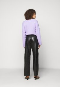 Lovechild - LUCAS - Leather trousers - black - 2