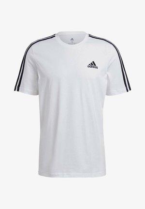 3-STRIPES SPORTS ESSENTIALS T-SHIRT - T-shirt med print - white/black