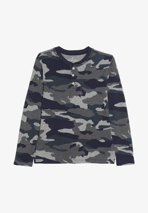 CAMO HENLEY - Long sleeved top - heather slate