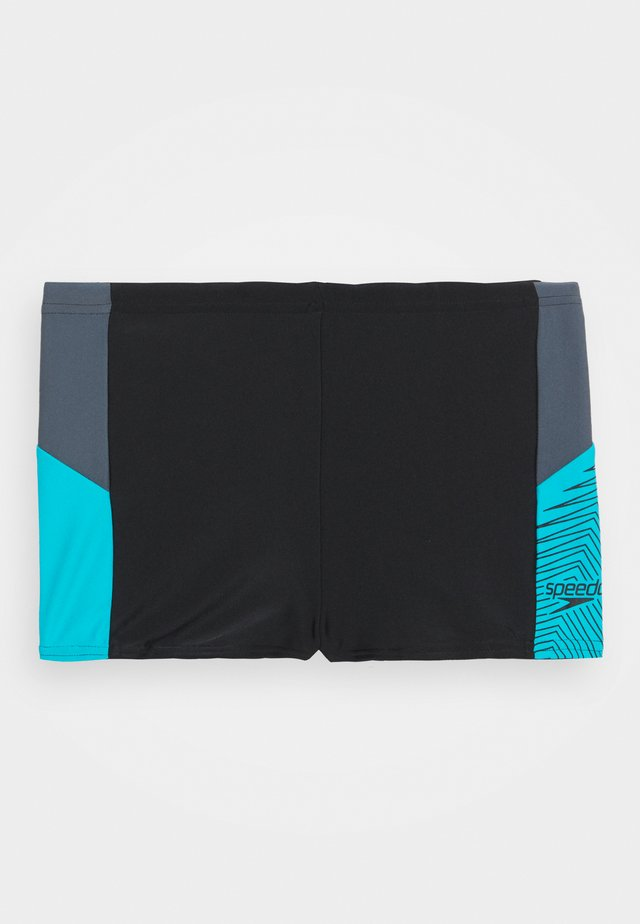 DIVE AQUASHORT - Swimming trunks - black/oxid grey/hypersonic blue