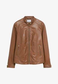Violeta by Mango - CHELASEA - Leather jacket - marron moyen - 4