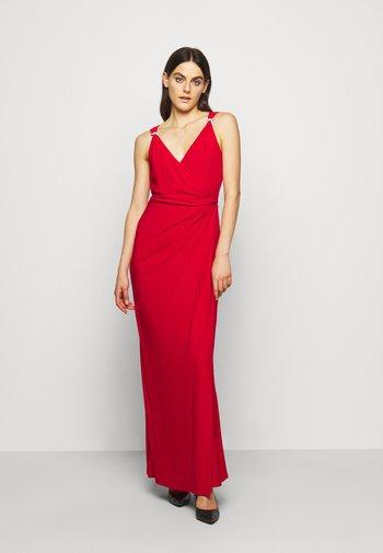CLASSIC LONG GOWN   - Vestido de fiesta - orient red