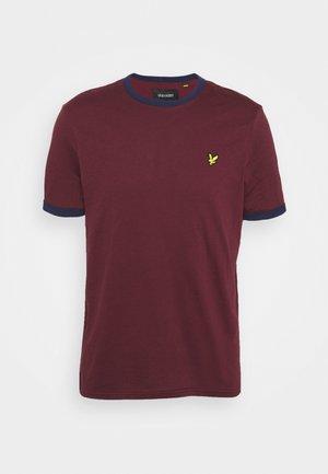 RINGER  - Basic T-shirt - merlot/navy