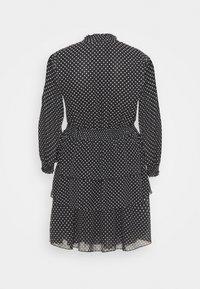 New Look Curves - SHIRRED DETAIL RUFFLE MINI - Denní šaty - black pattern - 1
