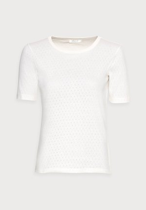 GRITH TOP - T-shirts med print - egret