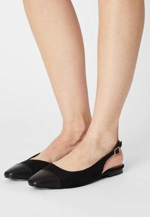 PROMISE CAP - Slingback ballet pumps - black