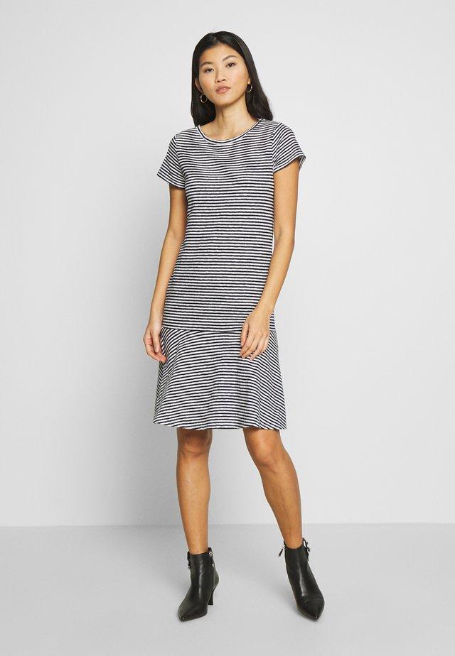 Jersey dress - dark blue/ white