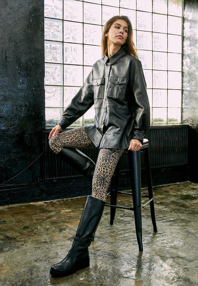 ONLVIYA  - Veste en cuir - black