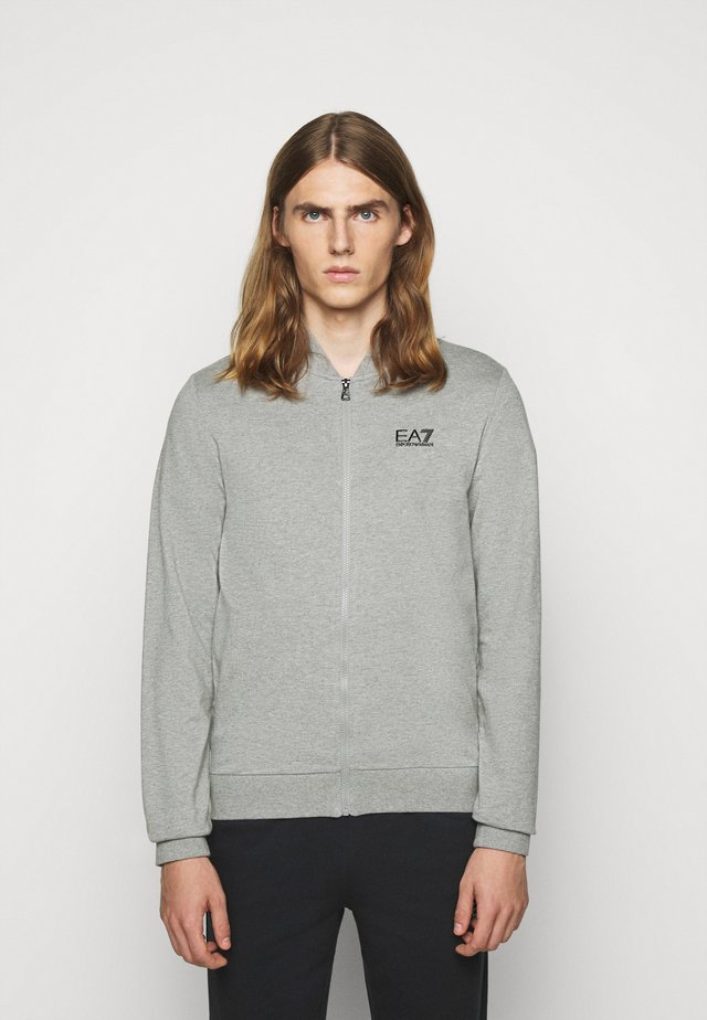 Mikina na zip - medium grey