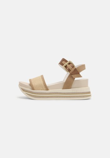 JIL - Platform sandals - beige/cognac