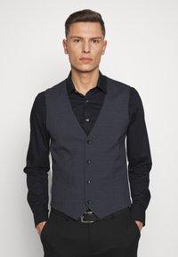 Esprit Collection - WINDOW CHECK - Waistcoat - dark blue - 0