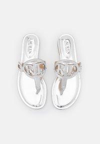 Lauren Ralph Lauren - AUDRIE - T-bar sandals - bright silver - 4