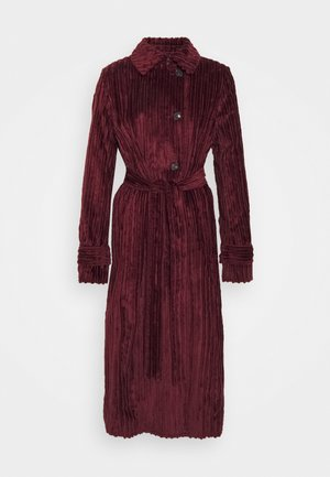 BELTED - Classic coat - iron red