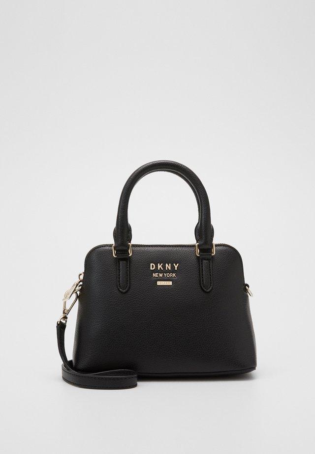 WHITNEY MINI DOME SATCHEL - Handbag - black/gold