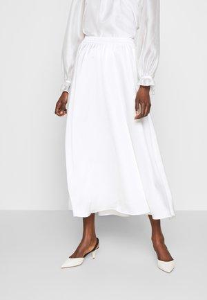KACY MAXI SKIRT - Maxi skirt - white
