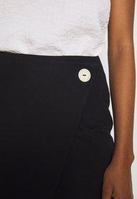 Esprit Collection - WRAP SKIRT - Falda acampanada - black - 4