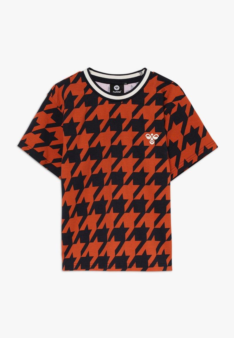 Hummel - Print T-shirt - burnt brick