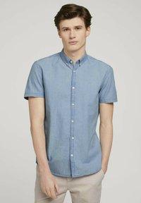 TOM TAILOR DENIM - Shirt - light indigo blue  chambray - 0