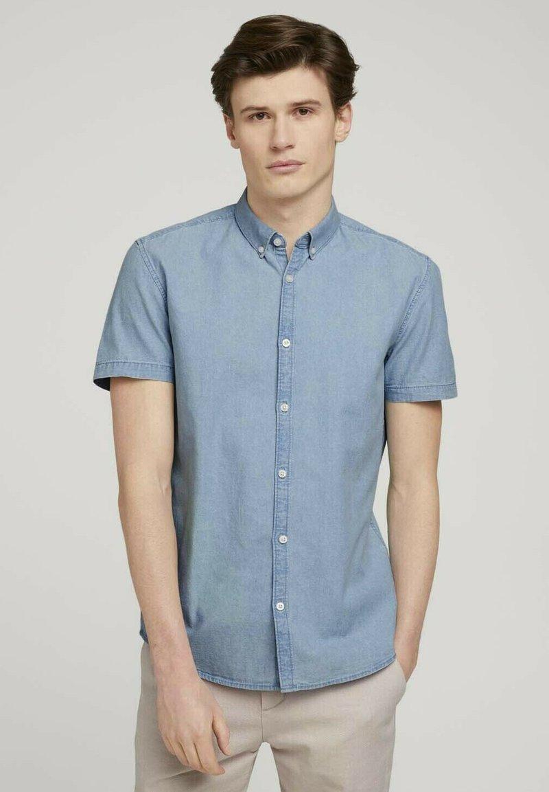 TOM TAILOR DENIM - Shirt - light indigo blue  chambray