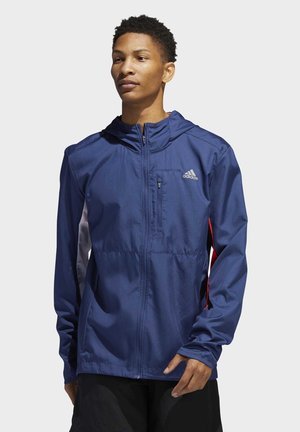OWN THE RUN HOODED WINDBREAKER - Windbreaker - tech indigo