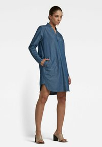 G-Star - MILARY V-NECK SHIRT - Denim dress - rinsed - 1