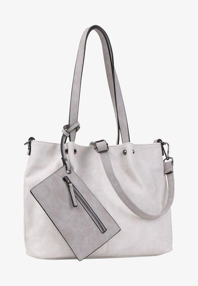 Shopping bag - ecru light grey