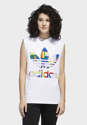 PRIDE FLAG FILL TANK TOP - Topper - white