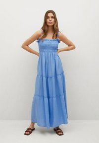 Mango - Maxi dress - blauw - 0