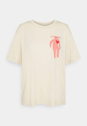 MAI TEE - T-shirt z nadrukiem - beige placement print