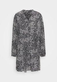 Vero Moda - VMCAITLYNN SHORT DRESS - Blousejurk - black/caitlynn/snow white - 3