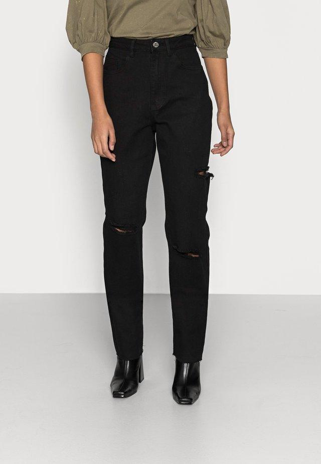 THIGH COMFORT STRETCH - Slim fit jeans - black