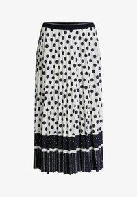 Oui - A-line skirt - offwhite black - 4