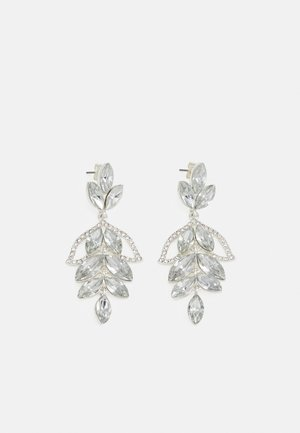 PCMILANI EARRINGS - Earrings - silver-coloured/clear
