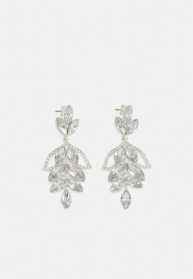 Pieces - PCMILANI EARRINGS - Øredobber - silver-coloured/clear