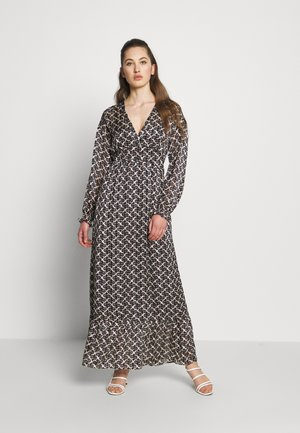 SHEER FEMININE MAXI DRESS WITH ALLOVER PRINT - Maxi-jurk - black/off-white