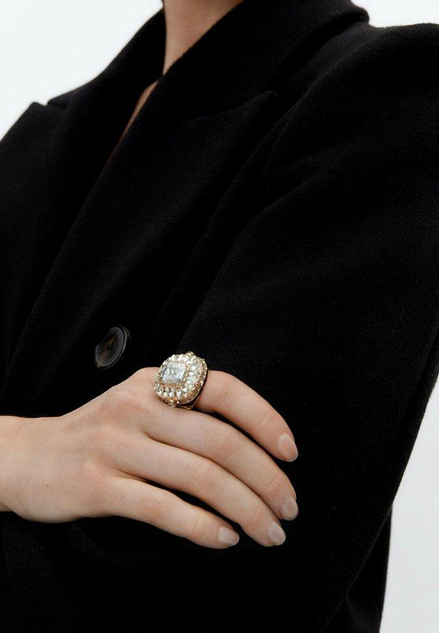 MIT SCHMUCKSTEINEN  - Ring - light grey