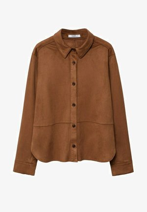 Button-down blouse - marron