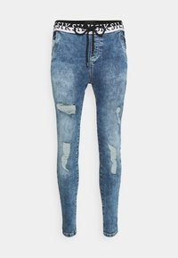 SIKSILK - DISTRESSED ELASTICATED - Jeans Skinny Fit - washed raw blue - 3