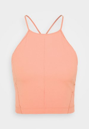YOGA CROP TANK - Sports shirt - rust pink/particle beige