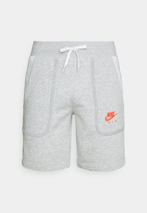 AIR SHORT - Pantalones deportivos - grey heather/summit white/infrared
