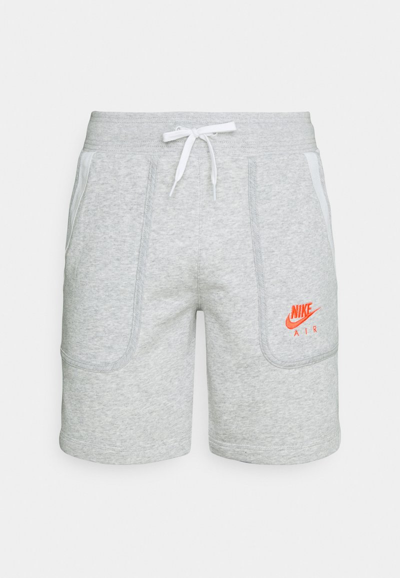 Nike Sportswear - AIR - Tracksuit bottoms - grey heather/summit white/infrared