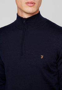Farah - REDCHURCH ZIP EXTRA FINE - Stickad tröja - true navy - 3