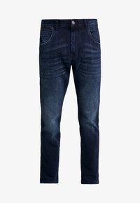 JOSH - Džíny Straight Fit - blue/ black denim