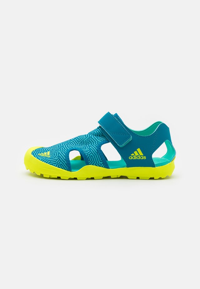 CAPTAIN TOEY UNISEX - Walking sandals - acid mint/solar yellow/active teal