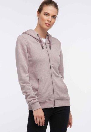 Zip-up hoodie - mottled rose
