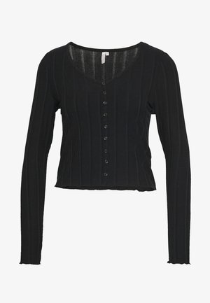 PCAOREM - Strickjacke - black