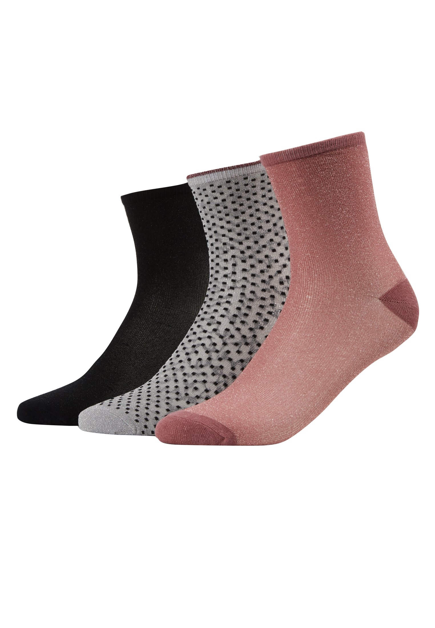 Donna DINA SOLID SMALL 3 PACK - Calze